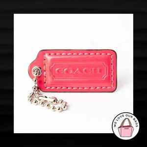 2″ Medium COACH PINK PATENT LEATHER KEY FOB BAG